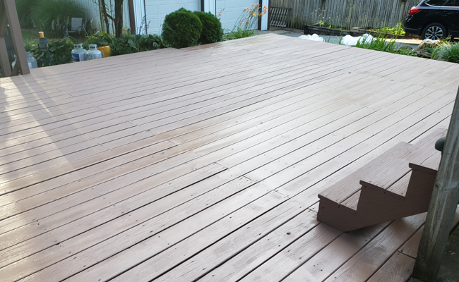 Deck After Painted