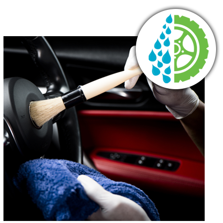 Car Detailing with brush
