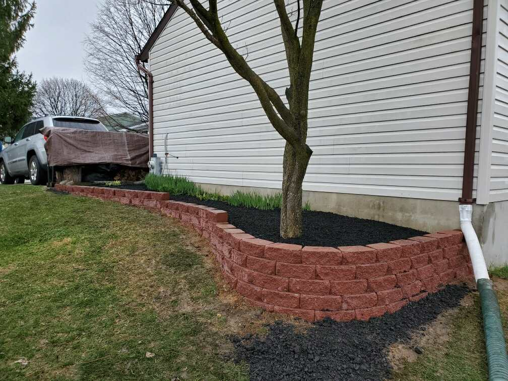 completed landscaping brick